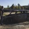 Новый поджог машины Михаила Терехина в сентябре 2015, фото