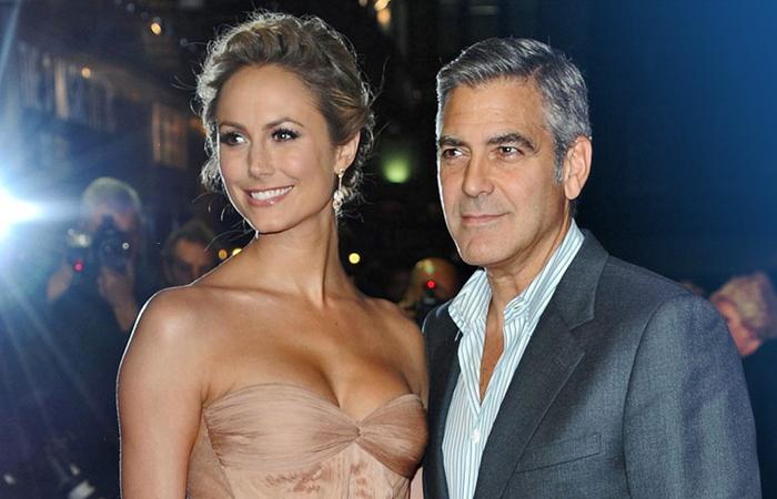 Джорджа Клуни и Стейси Киблер