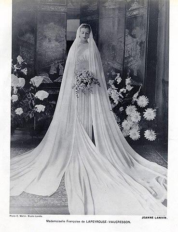 Свадебное платье от Дома Ланвин 1937г.
