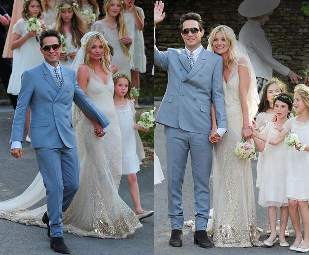 кейт Мосс в день свадьбы
