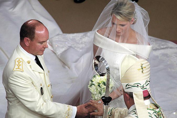 Фото венчания князя Альбера и Шарлин Уиттсток