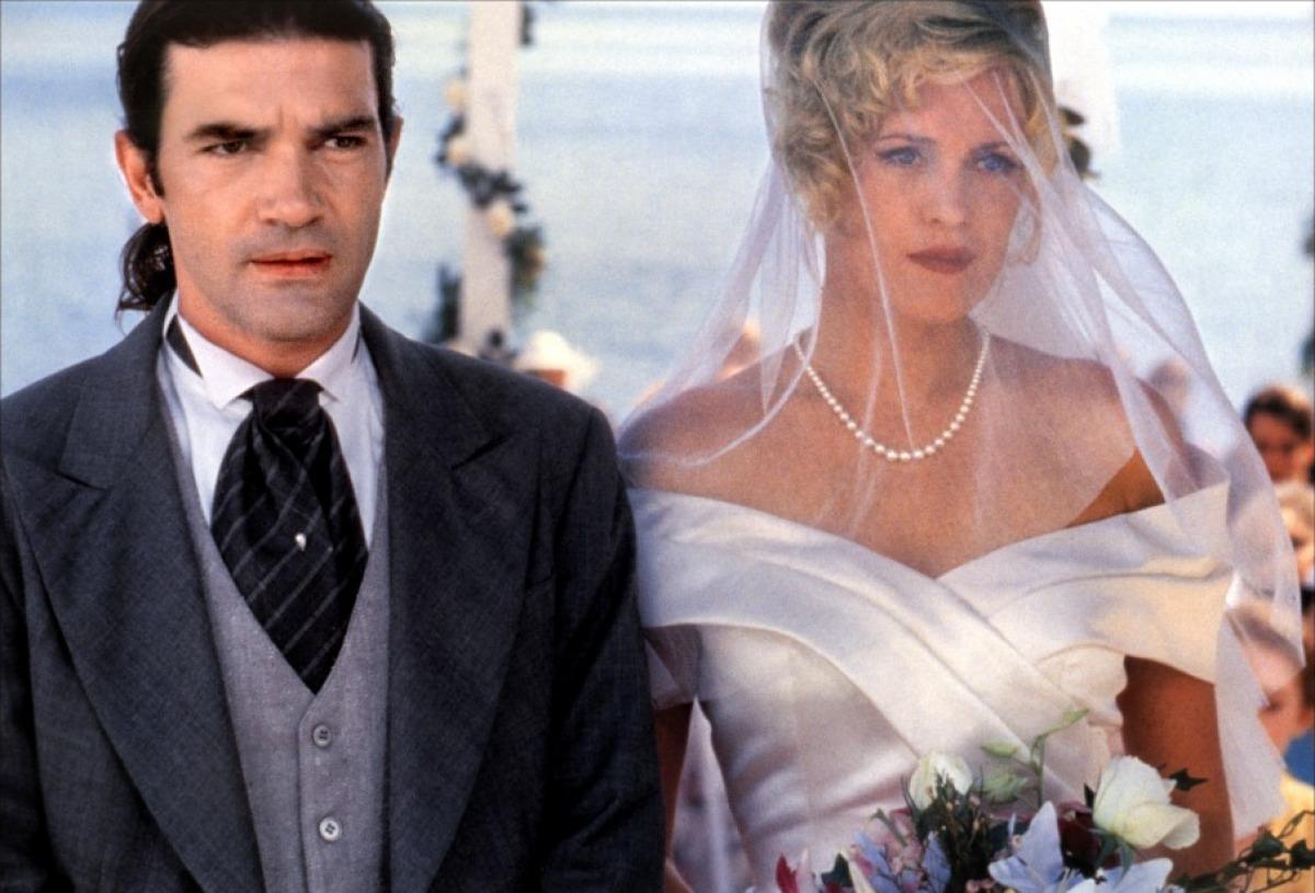Мелани Гриффит и Антонио Бандерас в день свадьбы