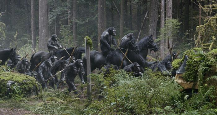 "Кадр из фильма ""Планета обезьян: Революция"""