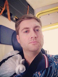 Максим Шарафутдинов после травмы