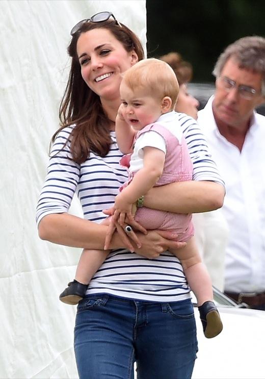Кейт Миддлтон с сыном Джорджем