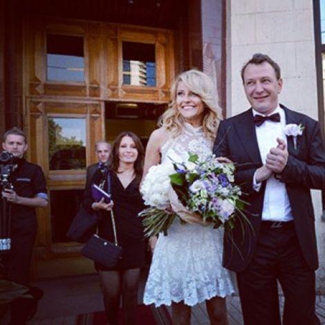 Марат Башаров и Екатерина Архарова в день свадьбы