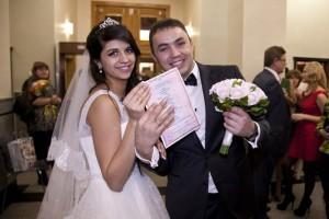 Гобозов сАлианой в день свадьбы