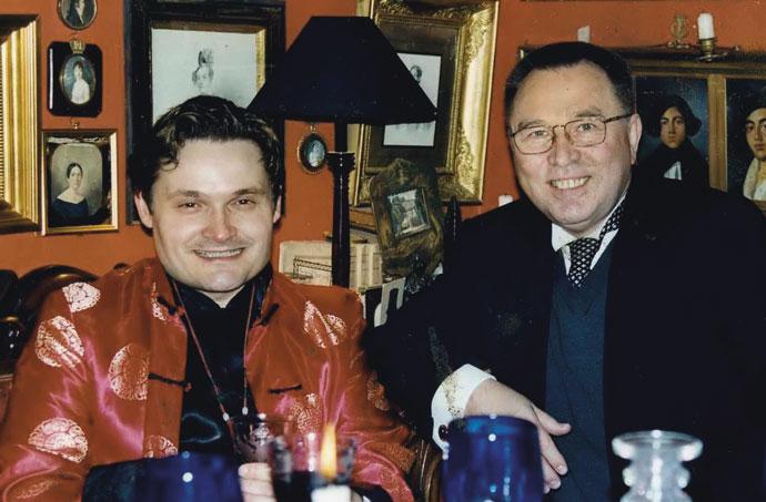А.Васильев и модельер В.Зайцев