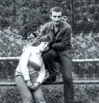 Александр Друзь с женой в молодости