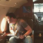 Максим Виторган в самолете