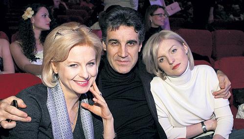Алексей Пиманов со второй женой Валентинойпимановой и дочерью Дарьей
