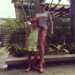 Волочкова с дочерью Ариадной в Таиланде 2015