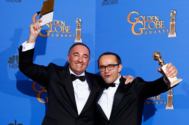Андрей Звягинцев и Александр Роднянский получают «Золотой глобус» за фильм «Левиафан»(видео)