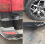 Повреждения автомобиля БМВ Михаила Терёхина (фото из Инстаграма)