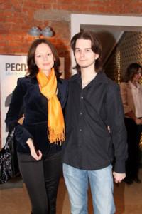 Андрей Ливанов с матерью Ириной Безруковой