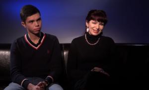 Анна Лесникова с сыном Даниилом
