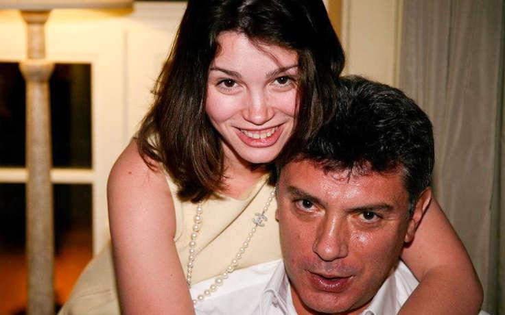 Жанна Немцова с отцом Борисом Немцовым