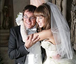 Дмитрий Дибров и Полина Диброва в день свадьбы