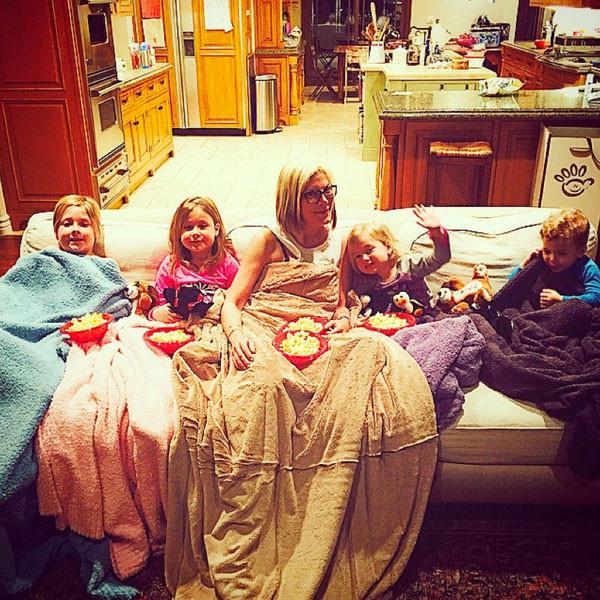 Тори Спеллинг с детьми фото 2015 Инстаграм