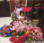 На фото Маруся (Мару), дочь Ксении Бородиной в свой 6 день рождения 10.06.2015