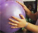 Дочь Ксении Бородиной Маруся с маникюром фото со дня рождения 2015
