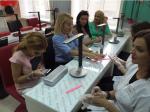 Салон красоты Ксении Бородиной, сама Ксения крайняя слева на фото