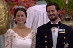 Принц Карл Филип и принцесса София в день свадьбы