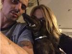 Алена Водонаева с Антоном Коротковым и собакой, фото из Инстаграма