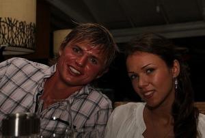 На фото футболист Дмитрий Тарасов с первой женой Оксаной