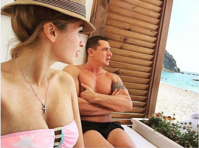 Бородина и Курбан Омаров на отдыхе в Турции после свадьбы фото июль 2015