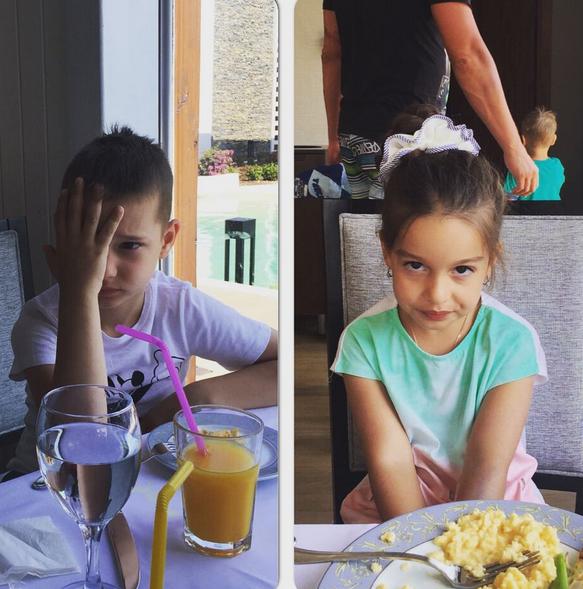 Фото сына Курбана Омаров и дочери Ксении Бородиной Маруси в Турции июль 2015