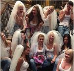 Ксения Бородина с подругами на девичнике, фото 2015 из Инстаграма