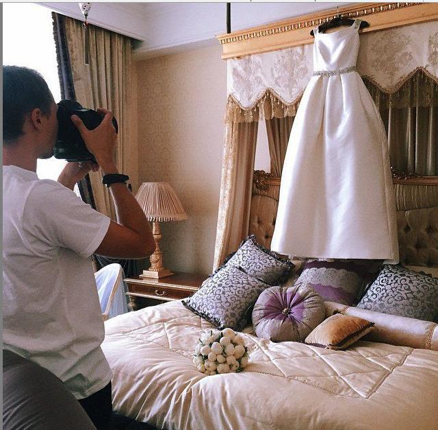 Свадьба Ксении Бородиной 2015: платье невесты фото из Инстаграма