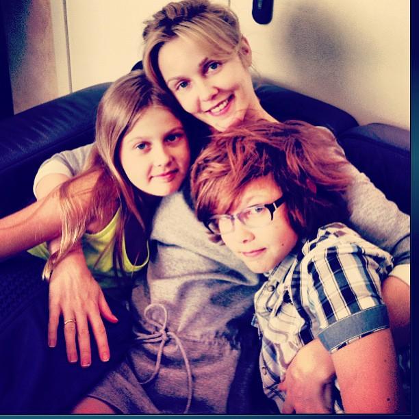 Фото Екатерины Гринчевской с детьми
