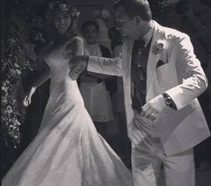 Гай Ричи и Джеки Эйнсли в день свадьбы фото 30 июля 2015