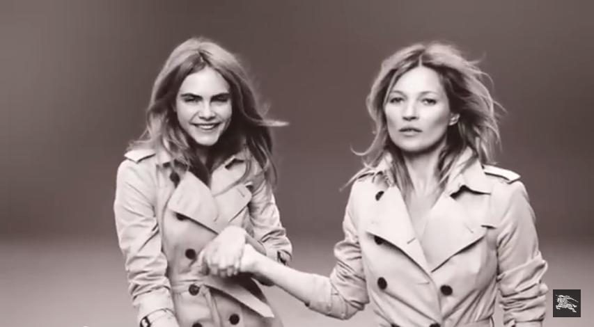 Кара Делевинь и Кейт Мосс в рекламе нового аромата  My Burberry, видео