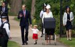 Принц Уильям, Кейт и принц Джордж фото перед церемонией крещения Шарлотты