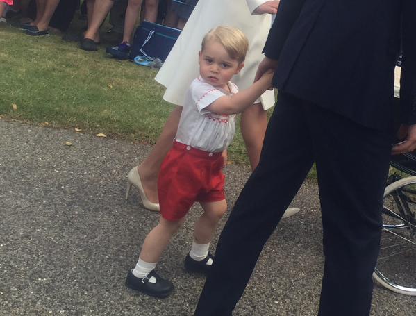 Крестины принцессы Шарлотты фото принца Джорджа
