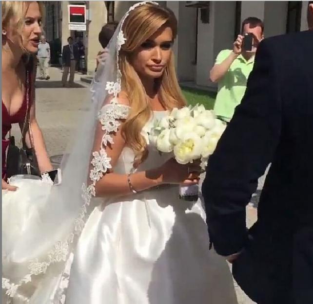 Фото Ксении Бородиной в день её свадьбы