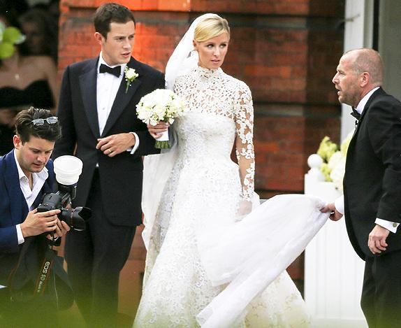 Фото Ники Хилтон и Джеймса Ротшильда в день свадьбы