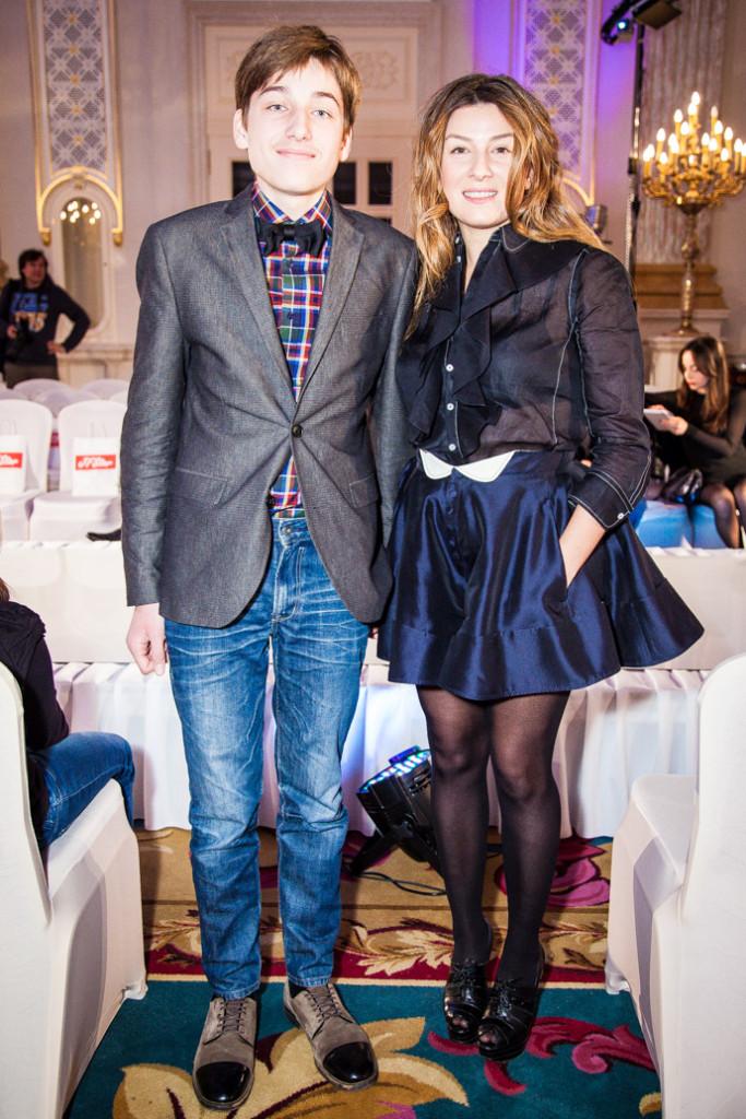 Фото Жанны Бадоевой с сыном Борисом