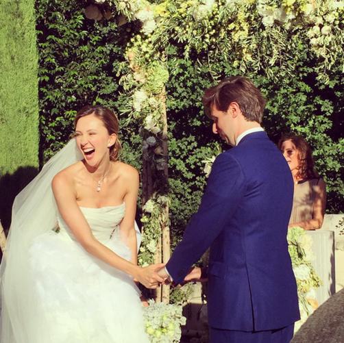 Мария Байбакова и Адриен Фор свадебное фото