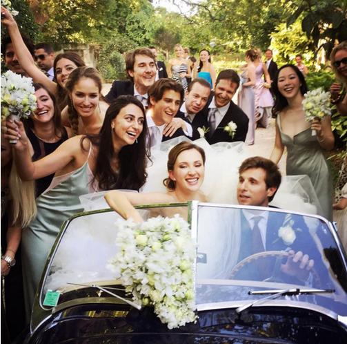 Свадьба Марии Байбаковой и Адриена Фора фото из соцсетей