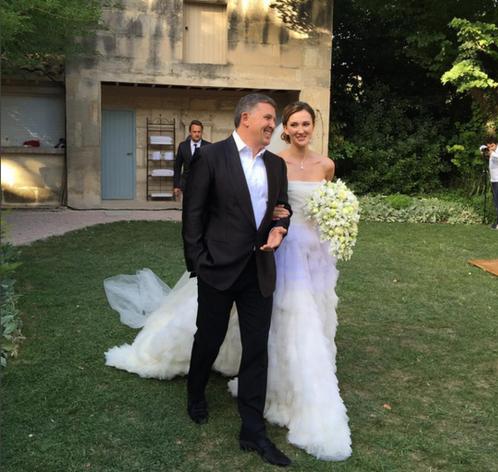 Фото Марии Байбаковой с отцом Олегом Байбаковым в день свадьбы