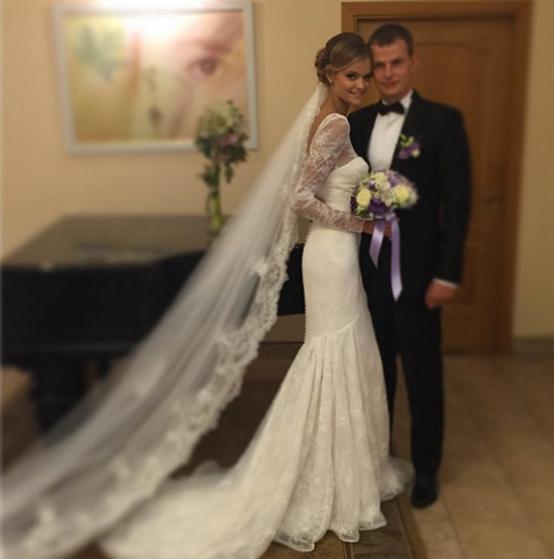 Модель Виктория Сикрет Екатерина Григорьева вышла замуж, фото с женихом Александром