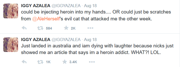 Iggy-Azalea-post-about-heroin