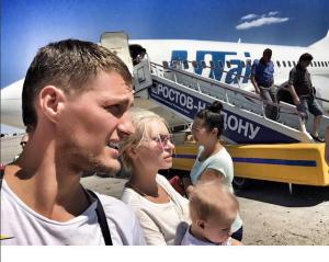 Элина Карякина-Камирен и Александр Задойнов с дочкой Сашей Фото в Ростове 2015