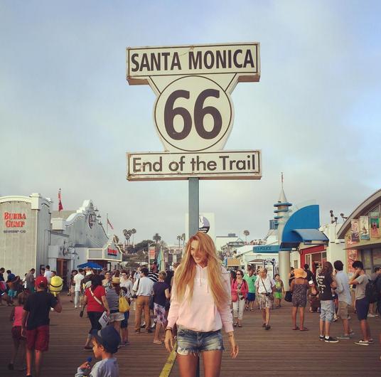 Алена Водонаева с сыном в Санта-Монике фото Инстаграм 2015