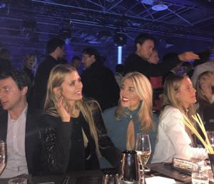 Виктория Боня с Хофит Голан на ужине в честь показа Philipp Plein в Милане, сентябрь 2015