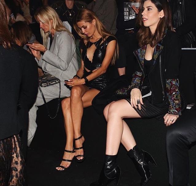 Виктория Боня фото во время Недели моды в Милане сентябрь 2015